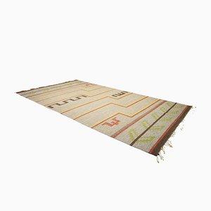Vintage Large Swedish Flat Weave Carpet