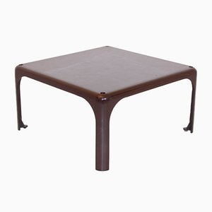 Brown Demetrio 45 Coffee Table by Vico Magistretti for Atemide, 1960s