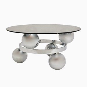 German Chromed Sputnik Coffee Table, 1970s