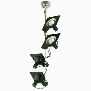 Lámpara colgante italiana regulable de cuatro luces de BJ Milano Desing, años 70