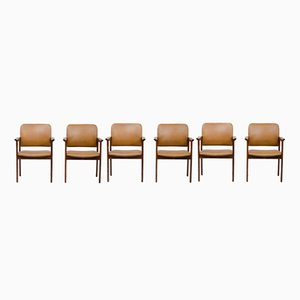 Vintage System B8 Armchairs from Bjerringbro Kontormøbler, Set of 6