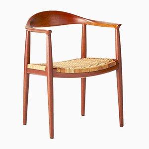 Chaise JH-501 The Chair Vintage par Hans J. Wegner pour Johannes Hansen