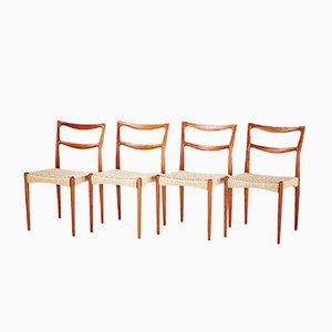 Chaises de Salon en Teck par Johannes Andersen, 1950s, Set de 4
