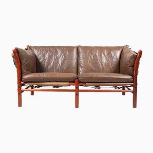 Vintage Ilona Sofa aus Patiniertem Leder von Arne Norell