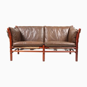Vintage Ilona Sofa in Patinated Leather by Arne Norell