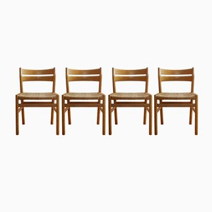 Vintage BM 1 Oak Chairs by Børge Mogensen for C.M. Madsens Fabrikker, Set of 4