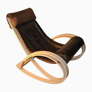 Vintage Rocking Chair by Gae Aulenti for Poltronova