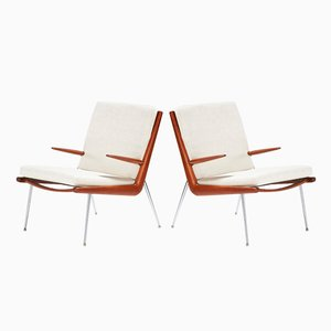 FD-135 Boomerang Chairs by Peter Hvidt and Orla Molgaard-Nielsen, 1956, Set of 2