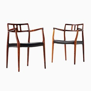 Model 64 Chairs by Niels Moller for J.L. Moller Mobelfabrik, 1966, Set of 2