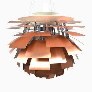 Lampe PH Artichoke Mid-Century en Cuivre par Poul Henningsen pour Louis Poulsen