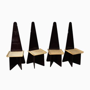 Vintage Italian Lacquered Chairs by Antonio Ronchetti for Luigi Sormani, Set of 4