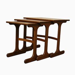 Mid-Century British Teak Fresco Nesting Tables from G-Plan