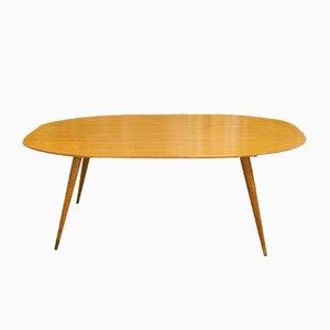 Table Basse Ovale en Bouleau, Allemagne,1950s