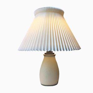 Lampe de Bureau Art Déco en Faïence de Knabstrup, Danemark,1930s