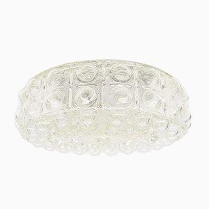 Lámpara de pared grande de cristal burbuja, años 60