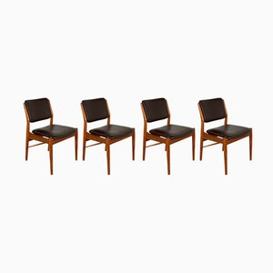 Dänische Esszimmerstühle von Arne Vodder für Sibast, 1960er, 4er Set