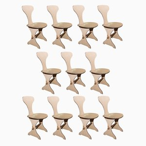 Chaises de Salon Vintage, Italie, 1960s, Set de 10