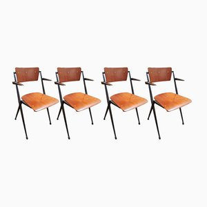 Pyramid Chairs by Wim Rietveld for Ahrend de Cirkel, 1964, Set of 4