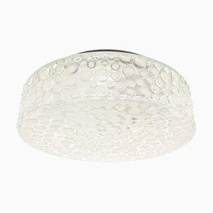 Aplique en forma de burbuja de vidrio escarchado pesado de Limburg, años 60
