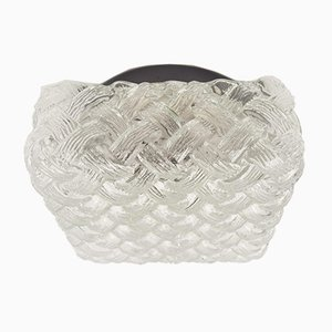 Woven Glass Structured Wall Light, 1960s