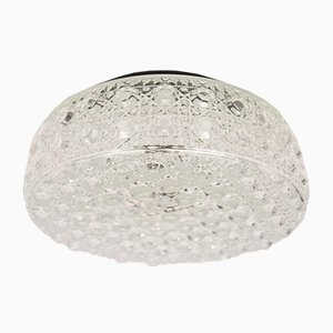 Lampada da parete grande in vetro a bolle con motivo geometrico, anni '60