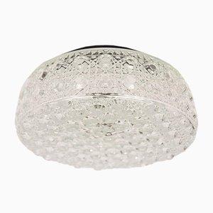 Lámpara de pared grande de cristal burbuja con estampados geométricos en 3D, años 60