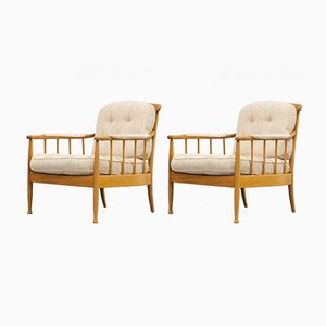 Scandinavian Vintage Skrindan Easy Chairs by Kerstin Hörlin-Holmquist for OPE Möbler, Set of 2