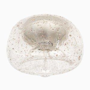 Lámpara Donut de vidrio claro y cromo con integraciones, años 60