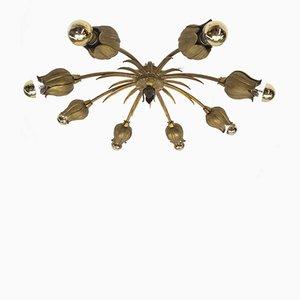 Heavy French Handmade Bronze Lamp, 1960s