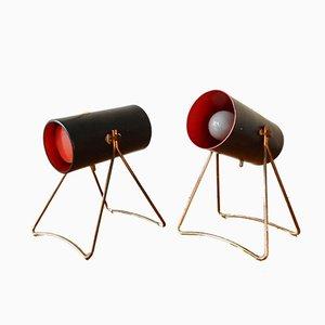 Lámparas de mesa de Svend Aage Holm Sørensen para ASEA, años 50. Juego de 2