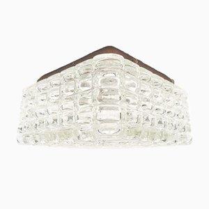Rechteckige Geometrische Glas Wandlampe, 1960er