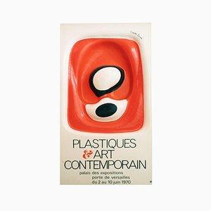Poster della mostra Plastiques & Art contemporain di Francois Cante Pacos, 1970