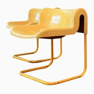 Glasfaser Stühle, 1970er, 2er Set