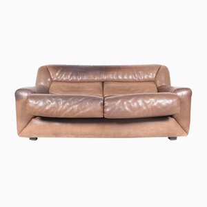 Swiss DS43 Leather Sofa from de Sede, 1980s