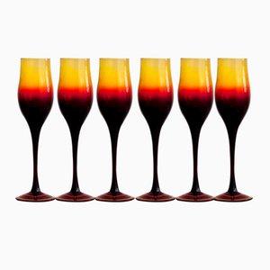 Verres à Vin par Zbigniew Horbowy, 1970s, Set de 6