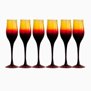 Wine Glasses by Zbigniew Horbowy, 1970s, Set of 6