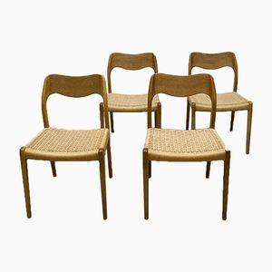 Chaises de Salon No. 71 par Niels O. Møller pour J.L. Møllers, Danemark, 1950s, Set de 4