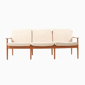 Mid-Century Danish Teak Sofa by Arne Vodder for Glostrup