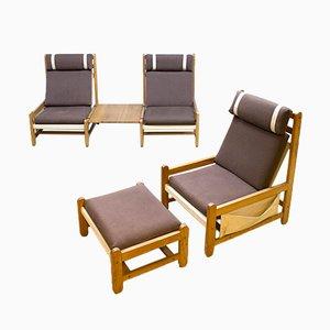Juego de sillones danés vintage de haya de Niels Eilersen