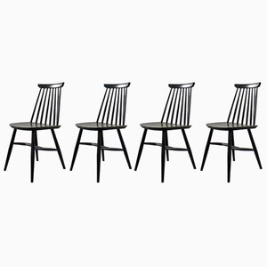 Vintage Chairs by Ilmari Tapiovaara, Set of 4