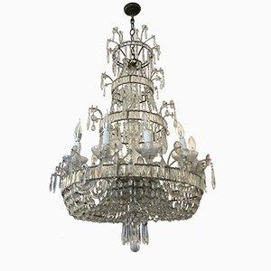 Mid-Century Kronleuchter aus Kristallglas