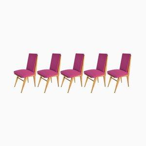 Chaises de Salon Mid-Century, France, Set de 5