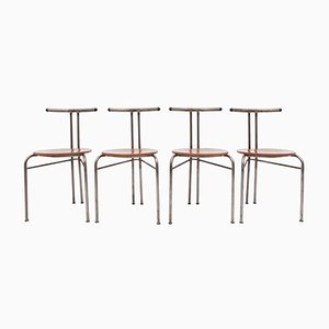 Chaises Industrielles, Danemark,1960s, Set de 4