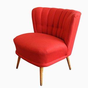 Fauteuil Cocktail Vintage Rouge
