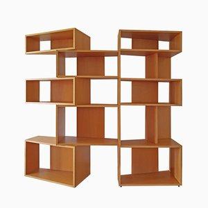 Italienisches Breites Buchenholz Bücherregal von Franco Poli für Bernini, 1995
