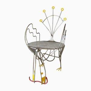 Sedia a forma di pavone edizione limitata di Riccardo Dalisi per Zanotta, 1984