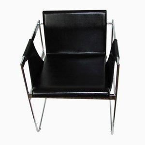 Sedia in metallo cromato, anni '70