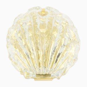 Lámpara de pared de cristal de hielo dorado de Kalmar, años 60