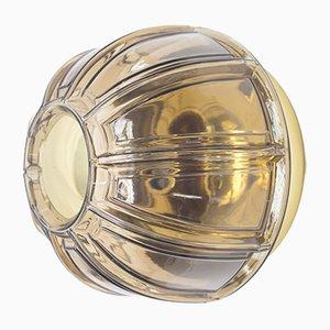 Wandlampe aus Rauchglas & Messing von Limburg, 1960er