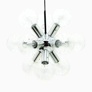 Lámpara de araña austriaca atómica de J.T. Kalmar, años 60
